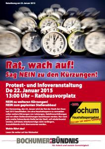 Dokumentiert: Aufruf des Bochumer Bündnisses für Arbeit und soziale Gerechtigkeit